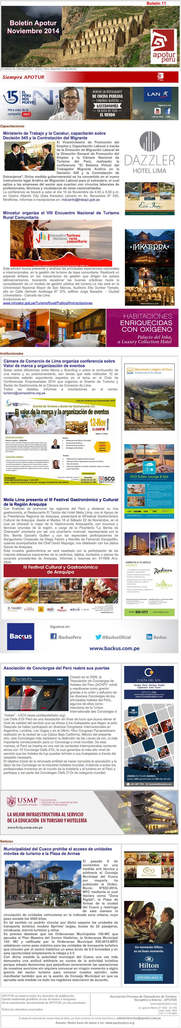Boletín Nro. 11 - Noviembre 2014