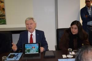 Alejandro Rubín, director gerente de Termatalia y Evelyn Grados de Prom Perú